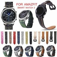 Genuine Leather Strap for Huami AMAZFIT Smart Watch Stratos 2 Pace 2 Wrist Band