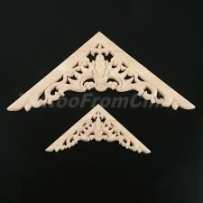 Unpainted Carved Decal Onlay Frame Corner Furniture Applique Wood Home Decor DIY