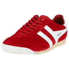 Gola Harrier 50 Womens Red White Suede Trainers