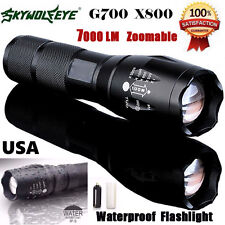 8000Lumen G700 X800 Zoom LED 18650 Flashlight Focus Torch Lamp Military Tactical