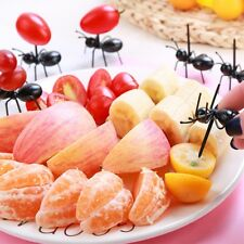 Cute Mini Ant Cat Fruit Forks Plastic Picker Snack Cake Dessert Party Animals...