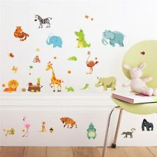 Jungle Animals Wall Stickers for Kids Rooms Safari Nursery Rooms Baby Home Decor