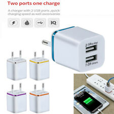 5V-2A Dual USB Charger Fast Charging for iPhone XS Max Wall Adapter US/ EU Plug