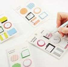 1PC Fresh Style Schedule Marker Self Adhesive Memo Pad Sticky Notes Bookmark Pla