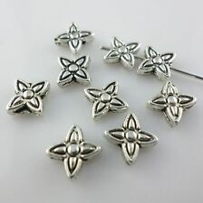 Tibetan Silver star Shape Crafts Charm Loose Spacer Beads Jewelry Making 2*6mm