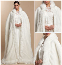 Winter New Bridal Winter Wedding Cloak Cape Hooded With Fur Trim Long Bridal