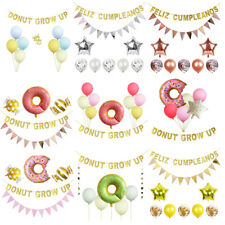 Donut Birthday Party Decorations Set Donut Grow Up Banner Latex Balloons