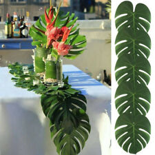 24pcs Artificial Tropical Hawaiian Green Fake Palm Leaf Table Placemats Decor