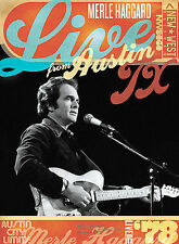 DVD Merle Haggard - LIVE FROM AUSTIN, TX 78 Brand NEW COUNTRY MUSIC