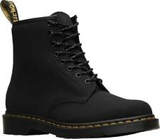 Mens Dr Martens 1460 8 Eye Black Broder Leather Lace Up Boots New In Box
