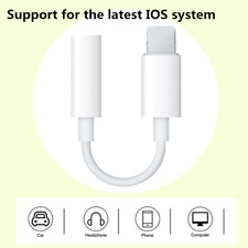 3.5mm Jack Stereo Aux Earphone Audio Adapter Cable Cord For iPhone 5 6 7 8 X XS