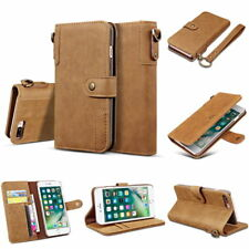 Retro Genuine Real Cow Leather Flip Wallet Case Cover Stand for Samsung Galaxy