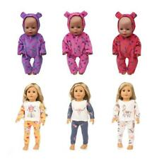 "MagiDeal Pajamas Jumpsuits for 18"" American Girl 16-18inch Baby Doll Loungewear"