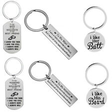Keychain Gift For Husband Wife Valentines Day Gifts Boyfriend Girlfriend Keyring