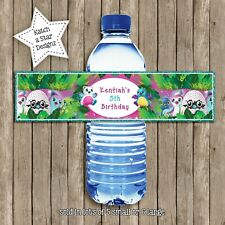 HATCHIMALS BIRTHDAY PARTY PERSONALISED WATER BOTTLE LABELS x 5