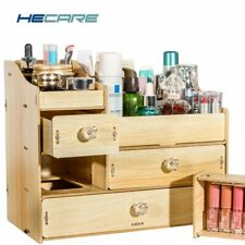 Wood Organizer for Cosmetics Drawer Cabinet Wood Color Wooden Box for Crafts