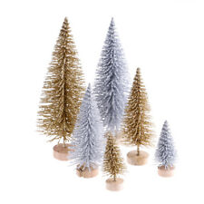3pcs Stand Mini Christmas Tree Small Pine Trees Xmas Gifts Home Desktop DecorY5