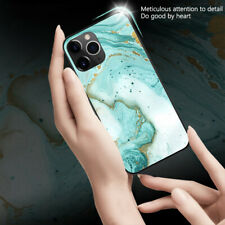 Luxury Tempered Glass Gradient Marble Case Cover For iPhone 11 Pro XS Max XR 8 7