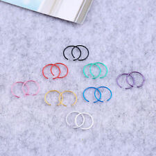 40Pcs Women Surgical Steel Silver Nose Ring Hoop Cartilage Body piercing jewelry