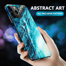 For Apple iPhone 11 Pro XS XR Max 8 7 6s Luxury Marble Tempered Glass Case Cover
