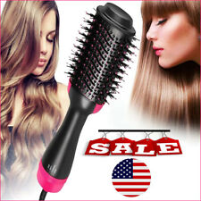 One Step Hair Dryer and Volumizer Brush Straightening Curling Comb US