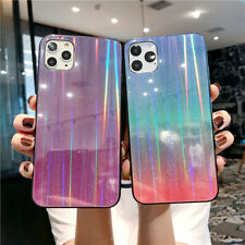 For iPhone 11 Pro Max XS XR X 6 7 8 Plus Gradient Tempered Glass Hard Case Cover