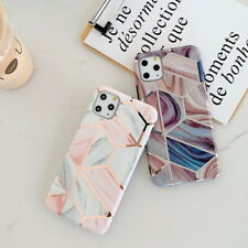 Marble Geometric IMD Silicone Case Cover For iPhone 11 Pro XS Max  XR X 7 8 Plus