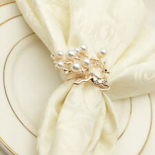 6pcs Elk Napkin Rings Metal Dinning Table Settings Napkin Rings for Dinner Event