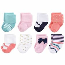 Terry Socks, 8-Pack, Coral Sparkle