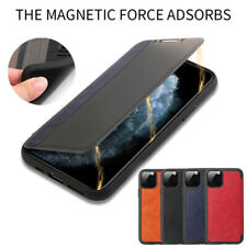 For iPhone 11 Pro Max XS Max XR 8 7 Plus Luxury Magnetic Leather Flip Case Cover