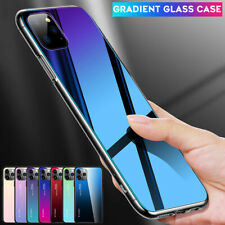 Slim Hybrid Gradient Tempered Glass Case Cover for iPhone 11 Pro Max XR XS X 7 8