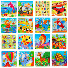 Kid 16 Piece Wooden Jigsaw Toys Education And Learning Puzzles Toy For Children