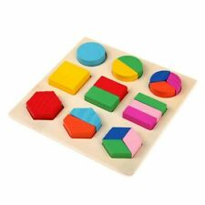 Toys Puzzle Learning Education Montessori Wooden Math Equipment Geometry Gifts