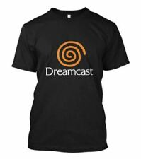 New New Dreamcast Sega Logo Short Sleeve Mens Black T-Shirt Size S To 2Xl