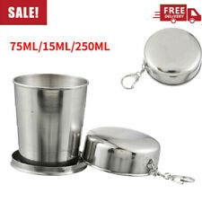 Stainless Steel Portable Outdoor Travel Folding Collapsible Cup 250ML Telescopic