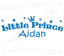 Personalized Crown Little Prince Name Vinyl Wall Decal