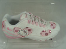 GIRLS HELLO KITTY INFANTS TRAINERS (DANCE) WHITE/PINK