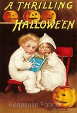 Thrilling Halloween Ghost Story Quilt Block Multi Sizes FrEE ShiPPinG WoRld WiDE