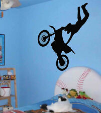 Vinyl Wall Art Sticker Decal Extreme Motorcross Stunt Kid Room Decor Decal 22""