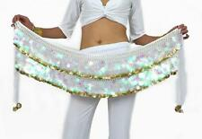 SF220# Big Sequins Gold Coins Belly Dance Scarf Belt 10 Colors
