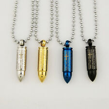Men's bullet stainless steel pill container Pendant 37