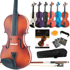 Mendini Violin All Sizes+Book/DVD+Case+Bow+ShoulderRest