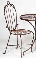Wrought Iron Adult Federal Garden Style Chair - Steel Patio Seating
