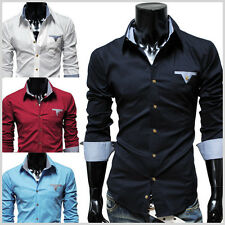 THELEES NWT Mens Casual Stretchy Fitted Dress Shirts Collection M L XL 2XL