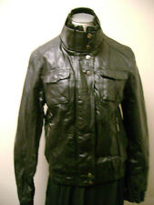Collezione Faux Leather Motorcycle Jacket Black NWT