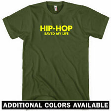 HIP-HOP SAVED MY LIFE T-Shirt - Hip Hop Rap DJ Music Vinyl Records - New XS-4XL