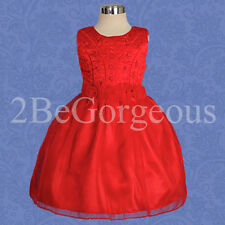 Girl Dresses Wedding Flower Girl Bridesmaid Party Holiday Occasion Age 1-6y 054