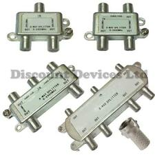 2/3 / 4 / 6way toit / ciel / satellite Ariel / antenne câble / coaxial signal tv f splitter