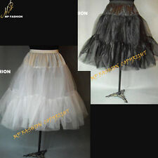 "(Black),(White)  Rock n' Roll Petticoat Lady 50s Underskirt Tutu 26"" UK 8-18 S-L"