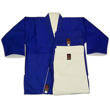Fuji Reversible Judo Gi DOUBLE Weave Uniform Blue and White + 2 Pairs of Pants!